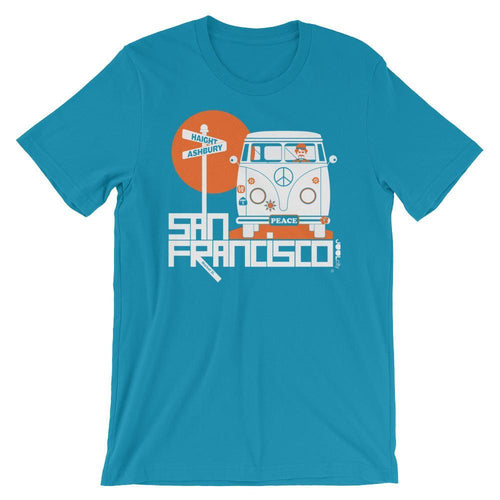 San Francisco Ashbury Love Short-Sleeve Men's T-Shirt T-Shirt Aqua / 2XL designed by JOOLcity