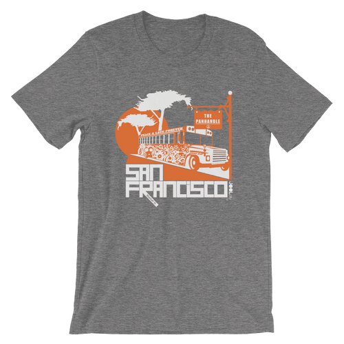 San Francisco Blissful Bus Short-Sleeve Men's T-Shirt T-Shirt Deep Heather / 2XL designed by JOOLcity