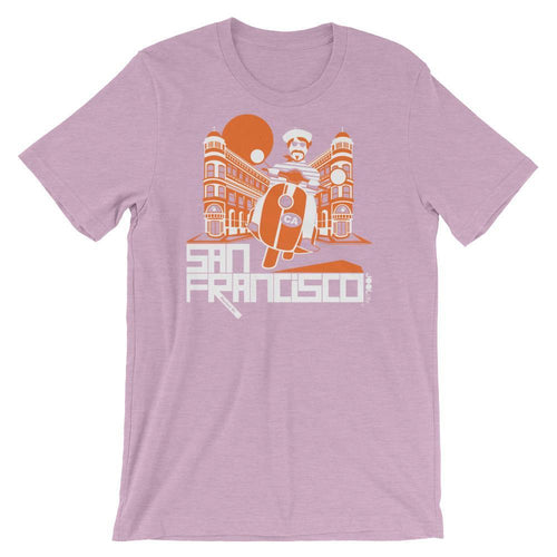 San Francisco Buddy Beatnik Short-Sleeve Men's T-Shirt T-Shirt Heather Prism Lilac / 2XL designed by JOOLcity