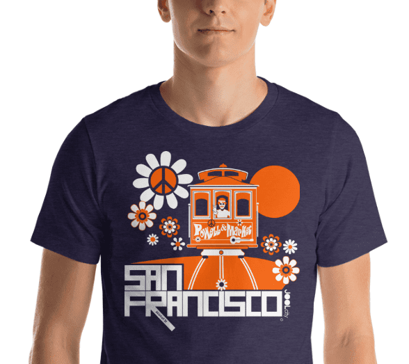 San Francisco Cable Car Groove Short-Sleeve Men's T-Shirt   designed by JOOLcity