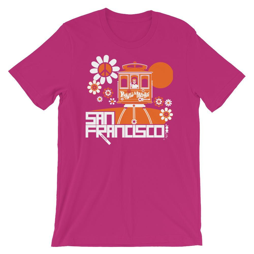 San Francisco Cable Car Groove Short-Sleeve Men's T-Shirt  Berry / 2XL designed by JOOLcity