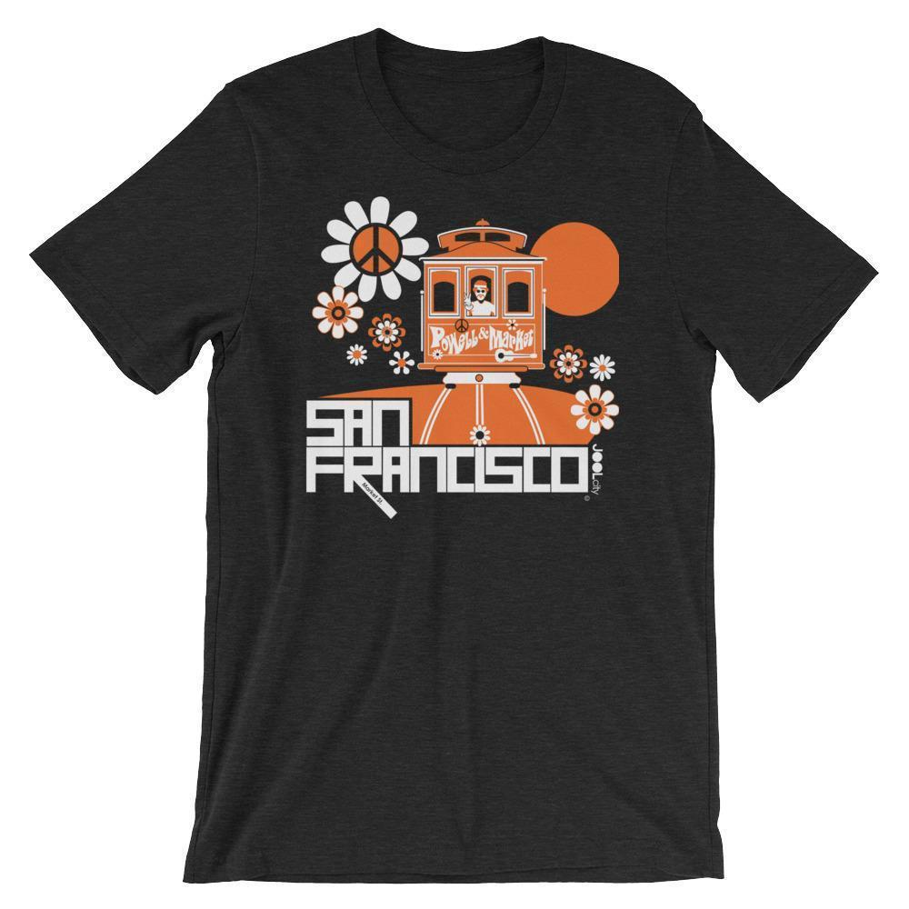 San Francisco Cable Car Groove Short-Sleeve Men's T-Shirt  Black Heather / 2XL designed by JOOLcity