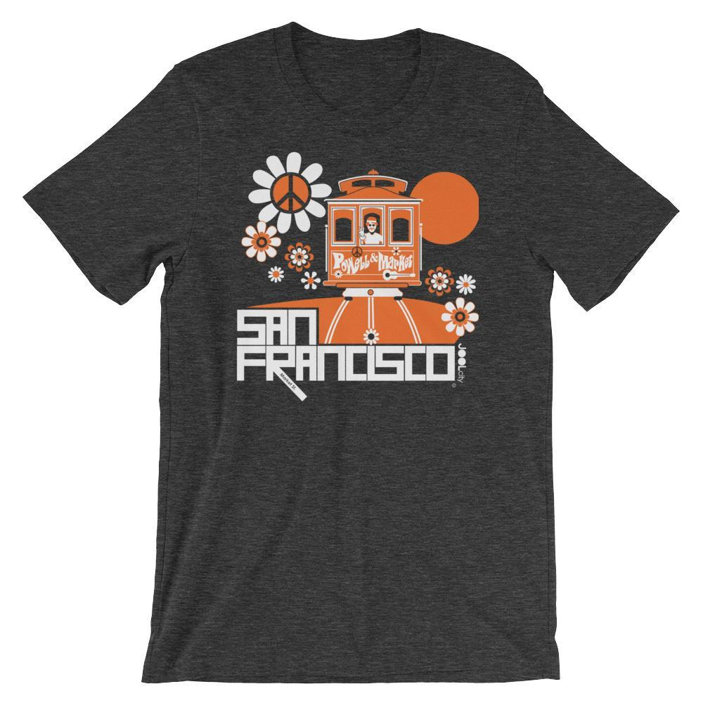 San Francisco Cable Car Groove Short-Sleeve Men's T-Shirt  Dark Grey Heather / 2XL designed by JOOLcity