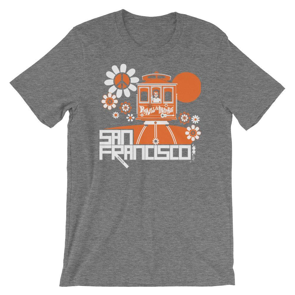 San Francisco Cable Car Groove Short-Sleeve Men's T-Shirt  Deep Heather / 2XL designed by JOOLcity