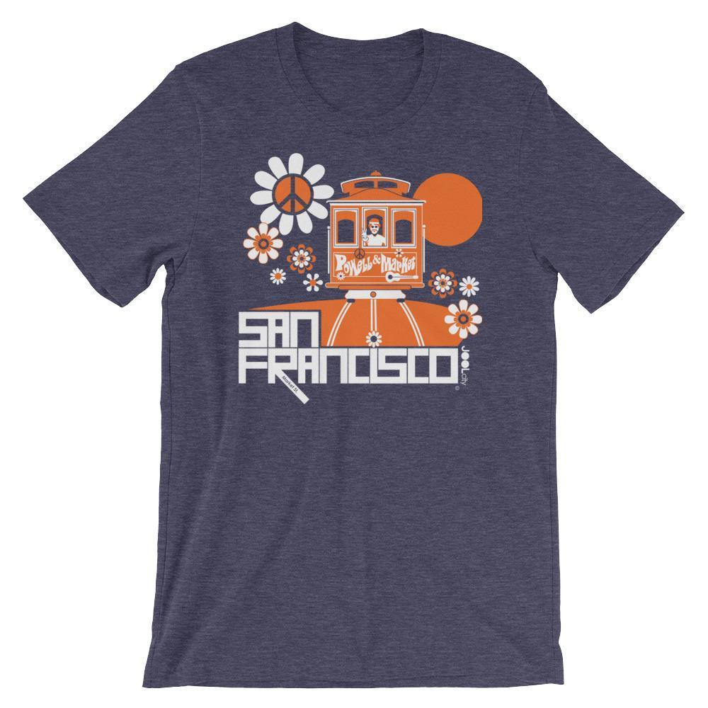 San Francisco Cable Car Groove Short-Sleeve Men's T-Shirt  Heather Midnight Navy / 2XL designed by JOOLcity