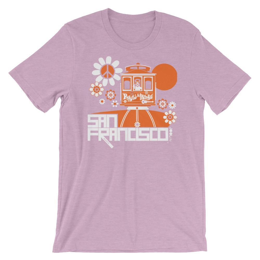 San Francisco Cable Car Groove Short-Sleeve Men's T-Shirt  Heather Prism Lilac / 2XL designed by JOOLcity