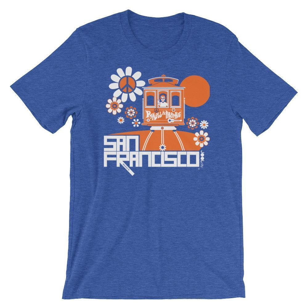 San Francisco Cable Car Groove Short-Sleeve Men's T-Shirt  Heather True Royal / 2XL designed by JOOLcity