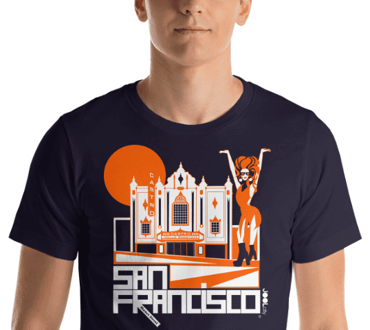 San Francisco Castro Diva Short-Sleeve Men's T-Shirt T-Shirt  designed by JOOLcity