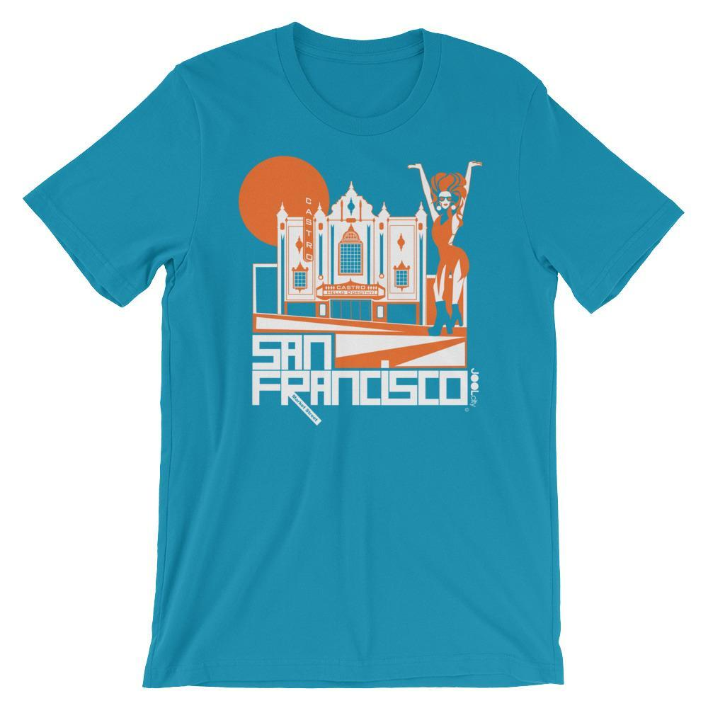 San Francisco Castro Diva Short-Sleeve Men's T-Shirt T-Shirt Aqua / 2XL designed by JOOLcity