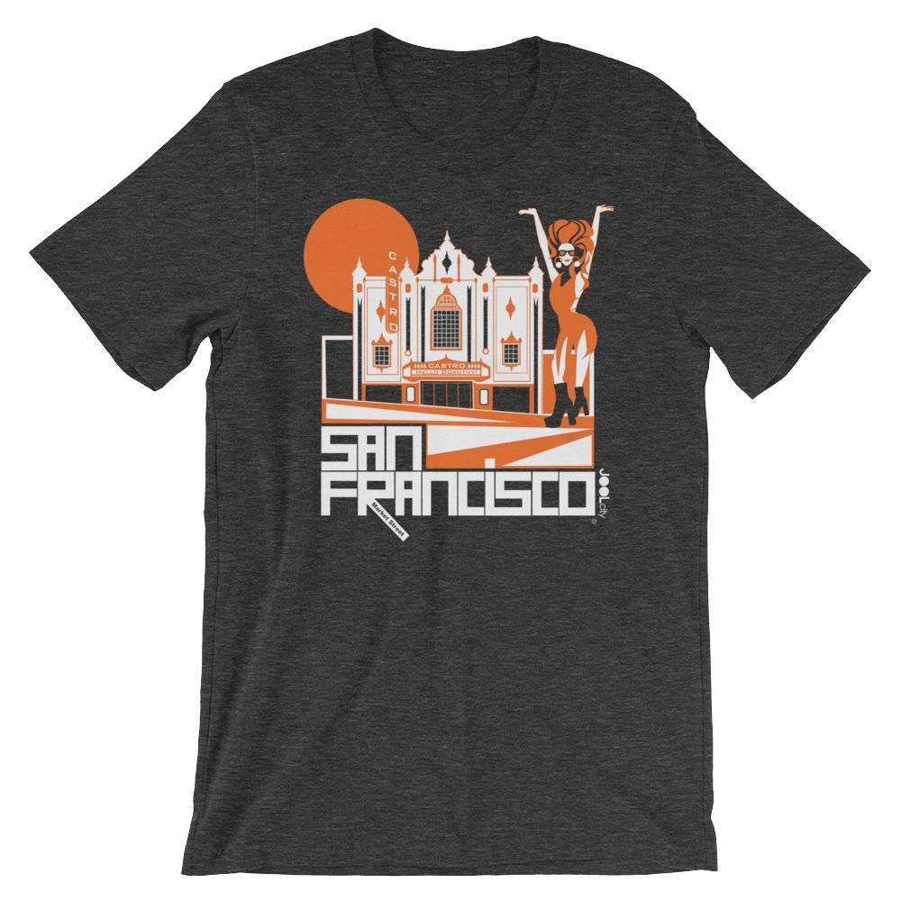 San Francisco Castro Diva Short-Sleeve Men's T-Shirt T-Shirt Dark Grey Heather / 2XL designed by JOOLcity