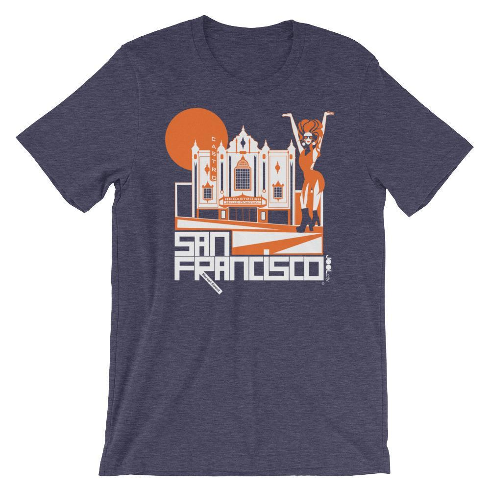 San Francisco Castro Diva Short-Sleeve Men's T-Shirt T-Shirt Heather Midnight Navy / 2XL designed by JOOLcity