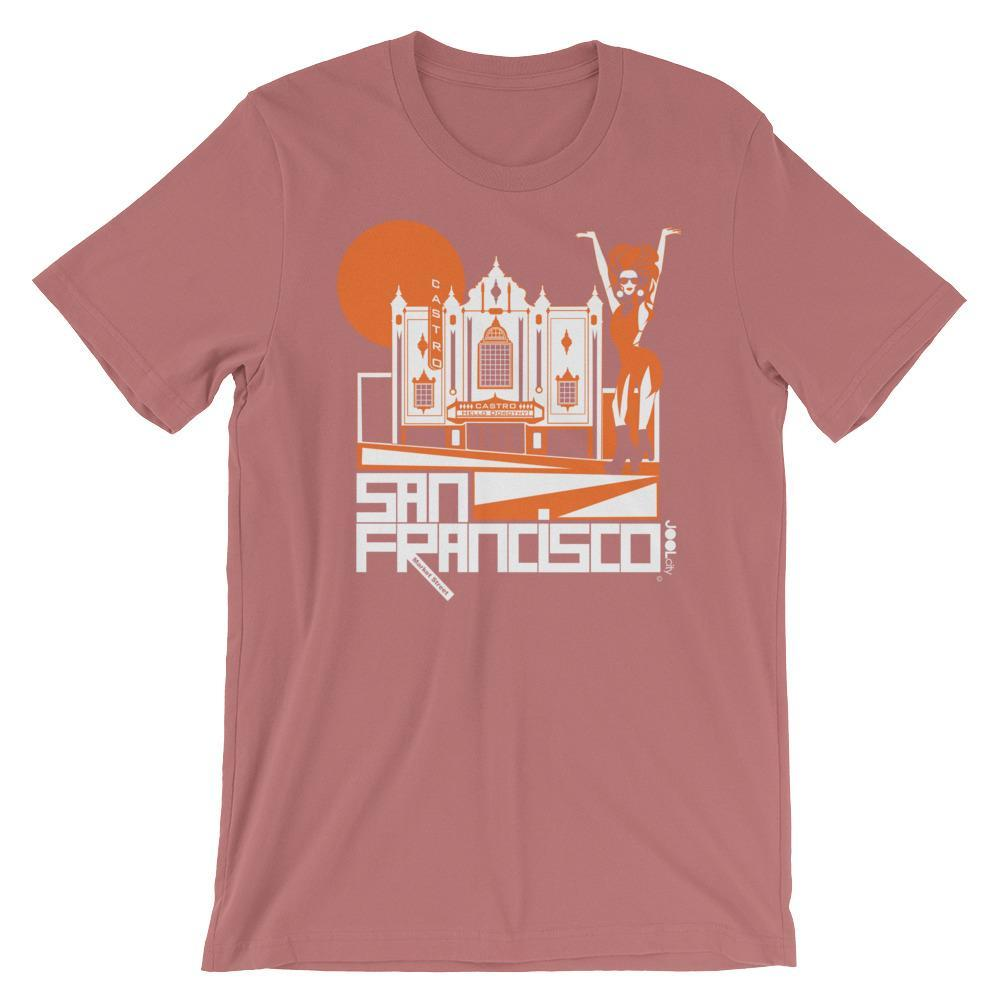 San Francisco Castro Diva Short-Sleeve Men's T-Shirt T-Shirt Mauve / 2XL designed by JOOLcity