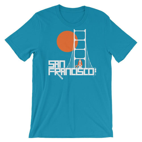 San Francisco Doggone It Short-Sleeve Men's T-Shirt T-Shirt Aqua / 2XL designed by JOOLcity