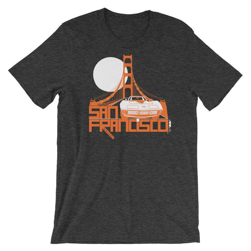 San Francisco Gate Away Short-Sleeve Men's T-Shirt T-Shirt Dark Grey Heather / 2XL designed by JOOLcity