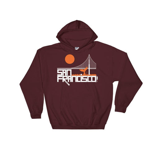 San Francisco Whale Tail Hooded Sweatshirt