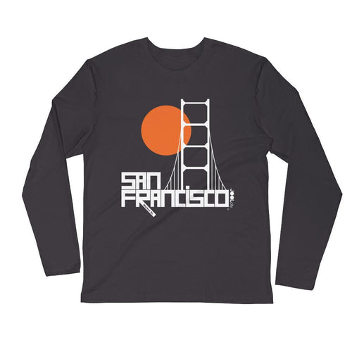 San Francisco Golden Gate Long Sleeve Men's T-Shirt T-Shirt 2XL designed by JOOLcity