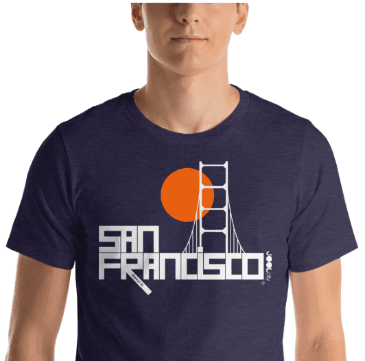San Francisco Golden Gate Short-Sleeve Men's T-Shirt T-Shirt  designed by JOOLcity