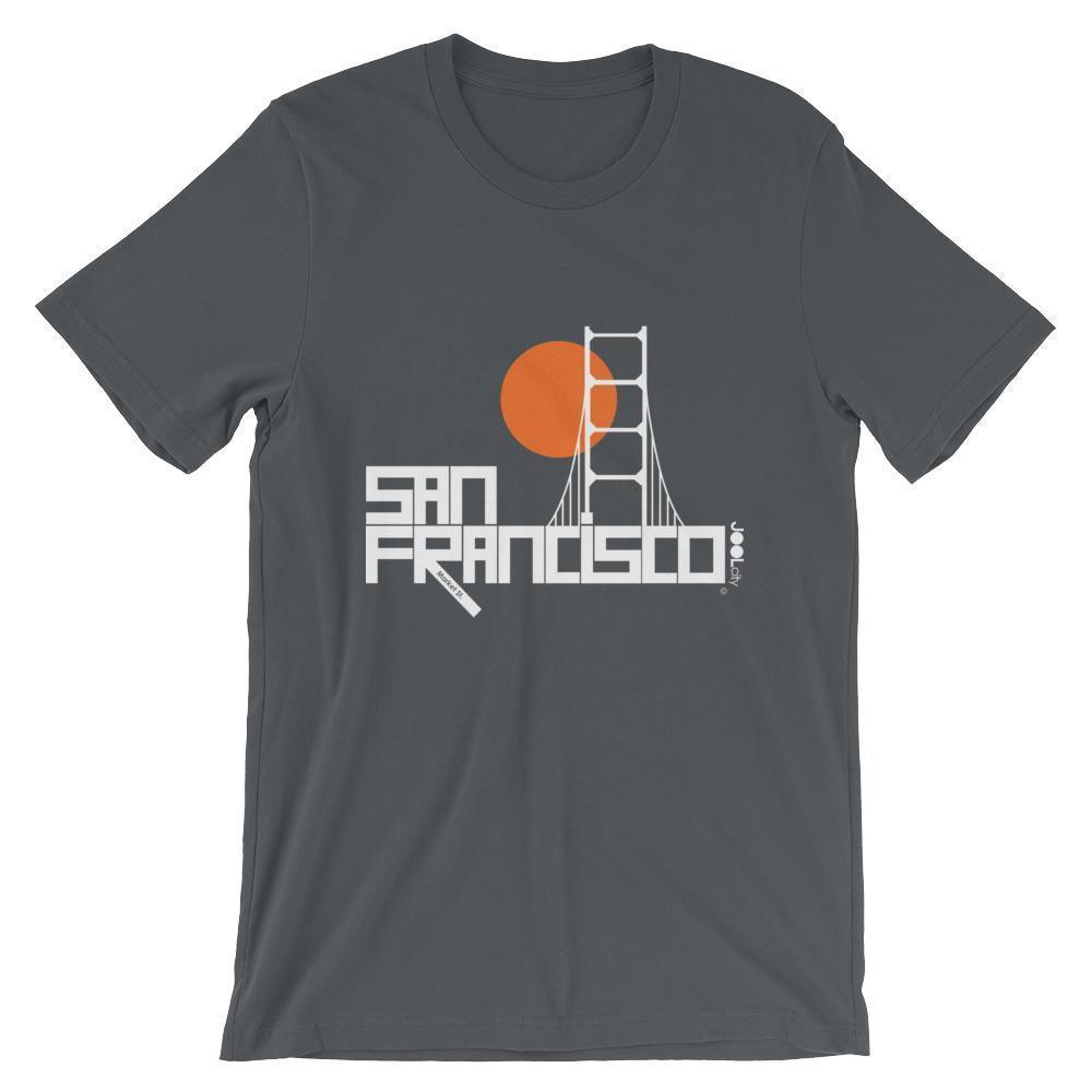 San Francisco Golden Gate Short-Sleeve Men's T-Shirt T-Shirt Asphalt / 2XL designed by JOOLcity