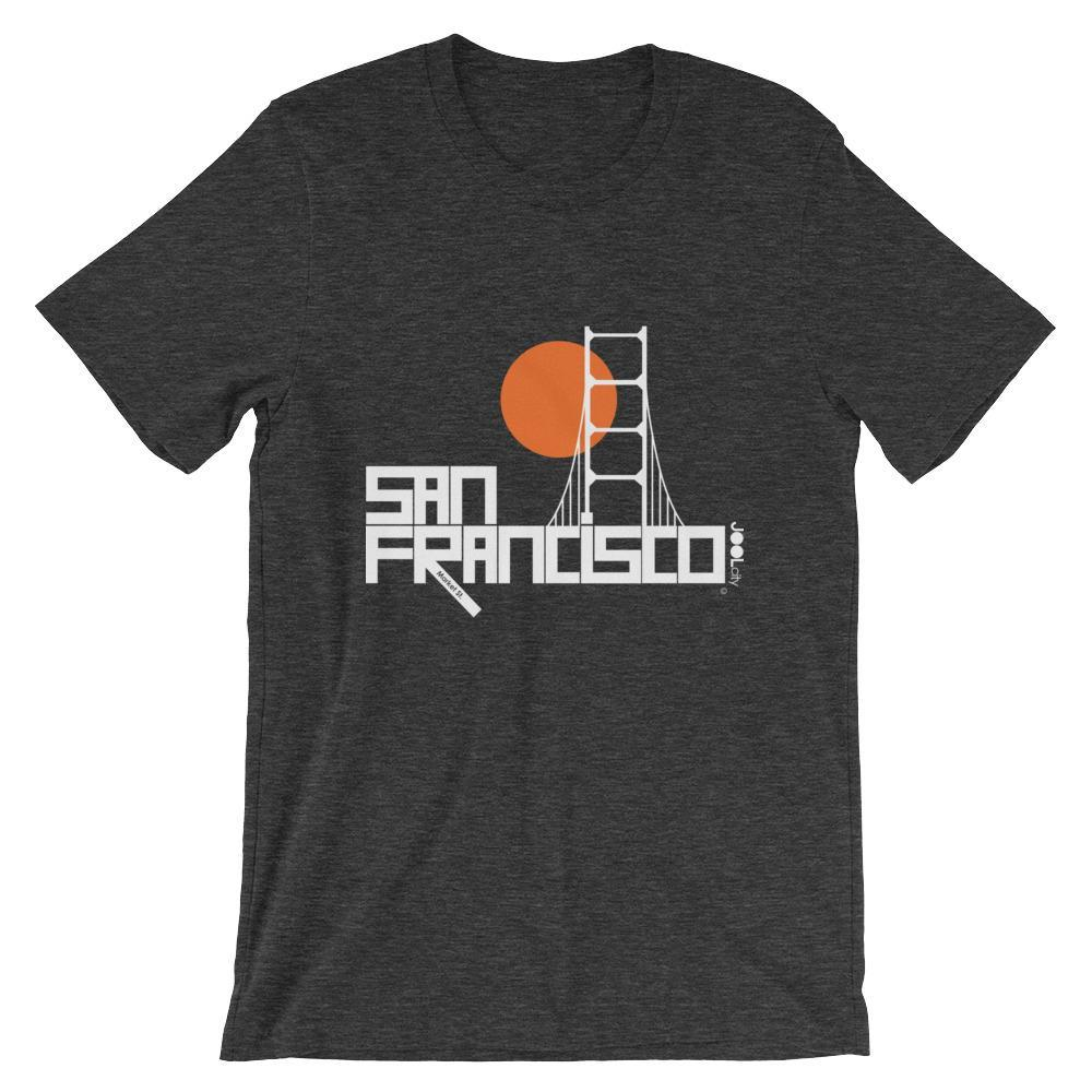 San Francisco Golden Gate Short-Sleeve Men's T-Shirt T-Shirt Dark Grey Heather / 2XL designed by JOOLcity