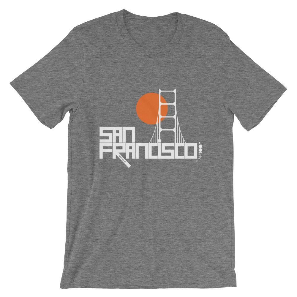 San Francisco Golden Gate Short-Sleeve Men's T-Shirt T-Shirt Deep Heather / 2XL designed by JOOLcity