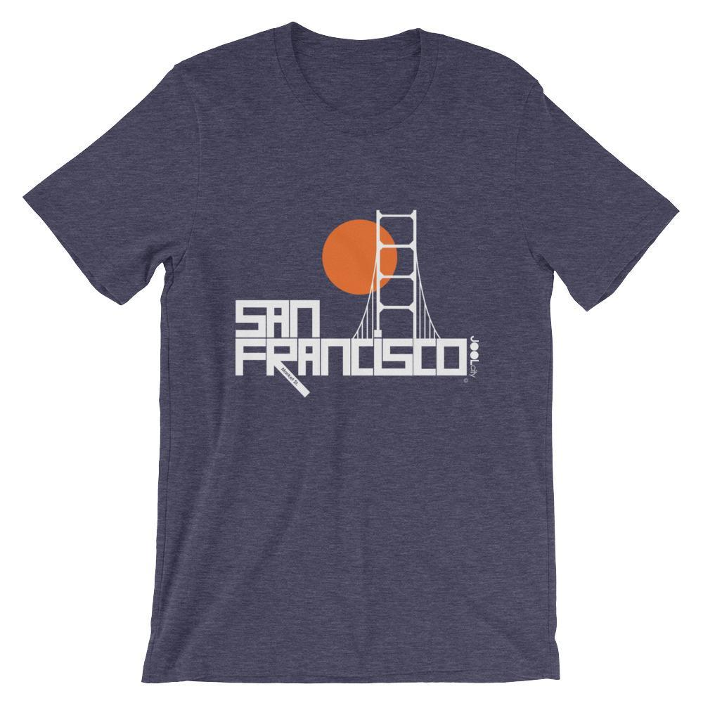 San Francisco Golden Gate Short-Sleeve Men's T-Shirt T-Shirt Heather Midnight Navy / 2XL designed by JOOLcity