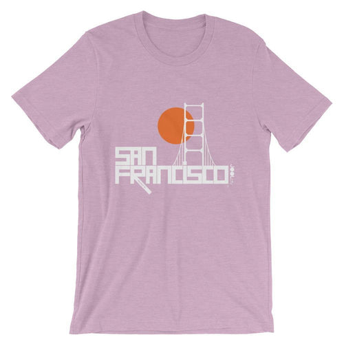 San Francisco Golden Gate Short-Sleeve Men's T-Shirt T-Shirt Heather Prism Lilac / 2XL designed by JOOLcity