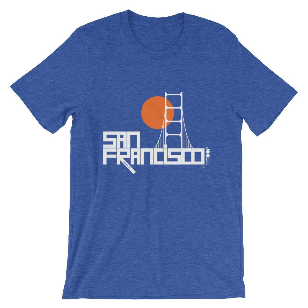 San Francisco Golden Gate Short-Sleeve Men's T-Shirt T-Shirt Heather True Royal / 2XL designed by JOOLcity