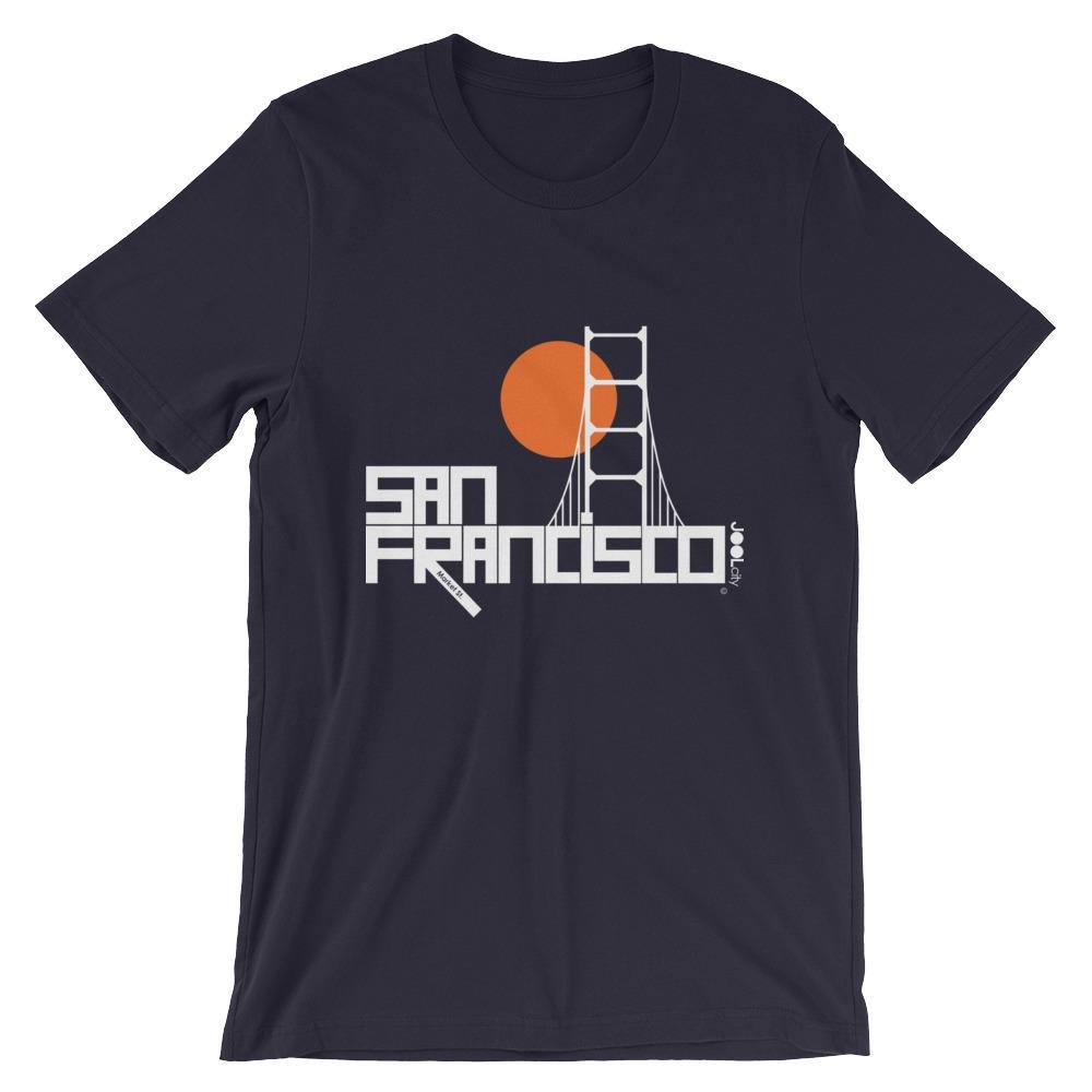 San Francisco Golden Gate Short-Sleeve Men's T-Shirt T-Shirt Navy / 2XL designed by JOOLcity