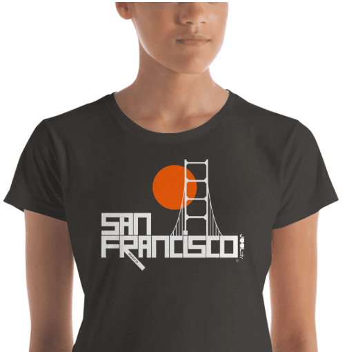 San Francisco  Golden Gate  Women's  Short Sleeve T-Shirt T-Shirt  designed by JOOLcity