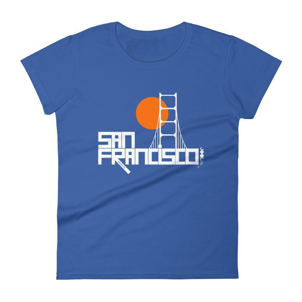 San Francisco  Golden Gate  Women's  Short Sleeve T-Shirt T-Shirt Royal Blue / 2XL designed by JOOLcity