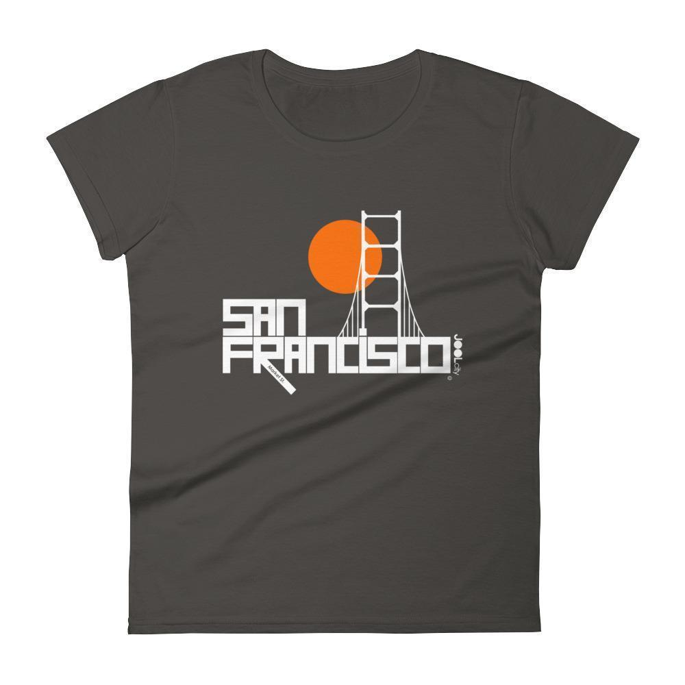 San Francisco  Golden Gate  Women's  Short Sleeve T-Shirt T-Shirt Smoke / 2XL designed by JOOLcity