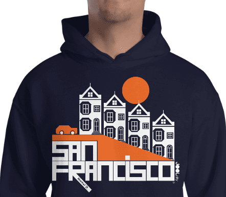 San Francisco Painted Ladies Hooded Sweatshirt
