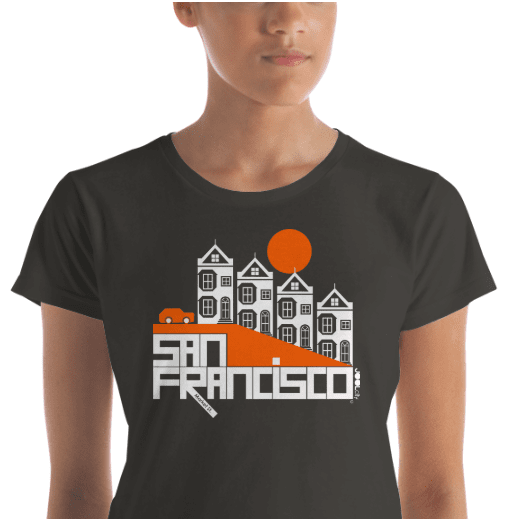 San Francisco  Painted Ladies  Women's  Short Sleeve T-Shirt T-Shirt  designed by JOOLcity