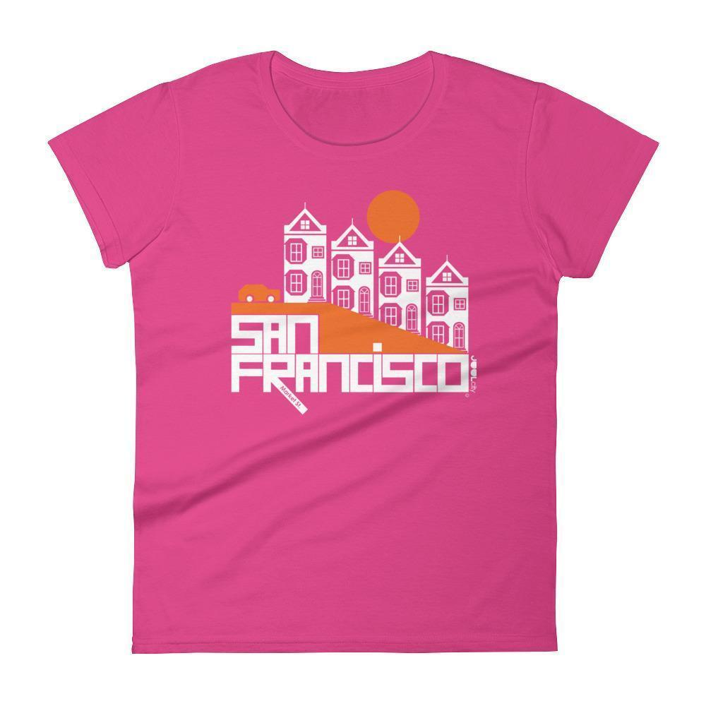 San Francisco  Painted Ladies  Women's  Short Sleeve T-Shirt T-Shirt Hot Pink / 2XL designed by JOOLcity