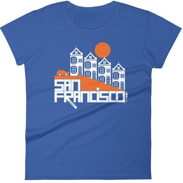 San Francisco  Painted Ladies  Women's  Short Sleeve T-Shirt T-Shirt Royal Blue / 2XL designed by JOOLcity