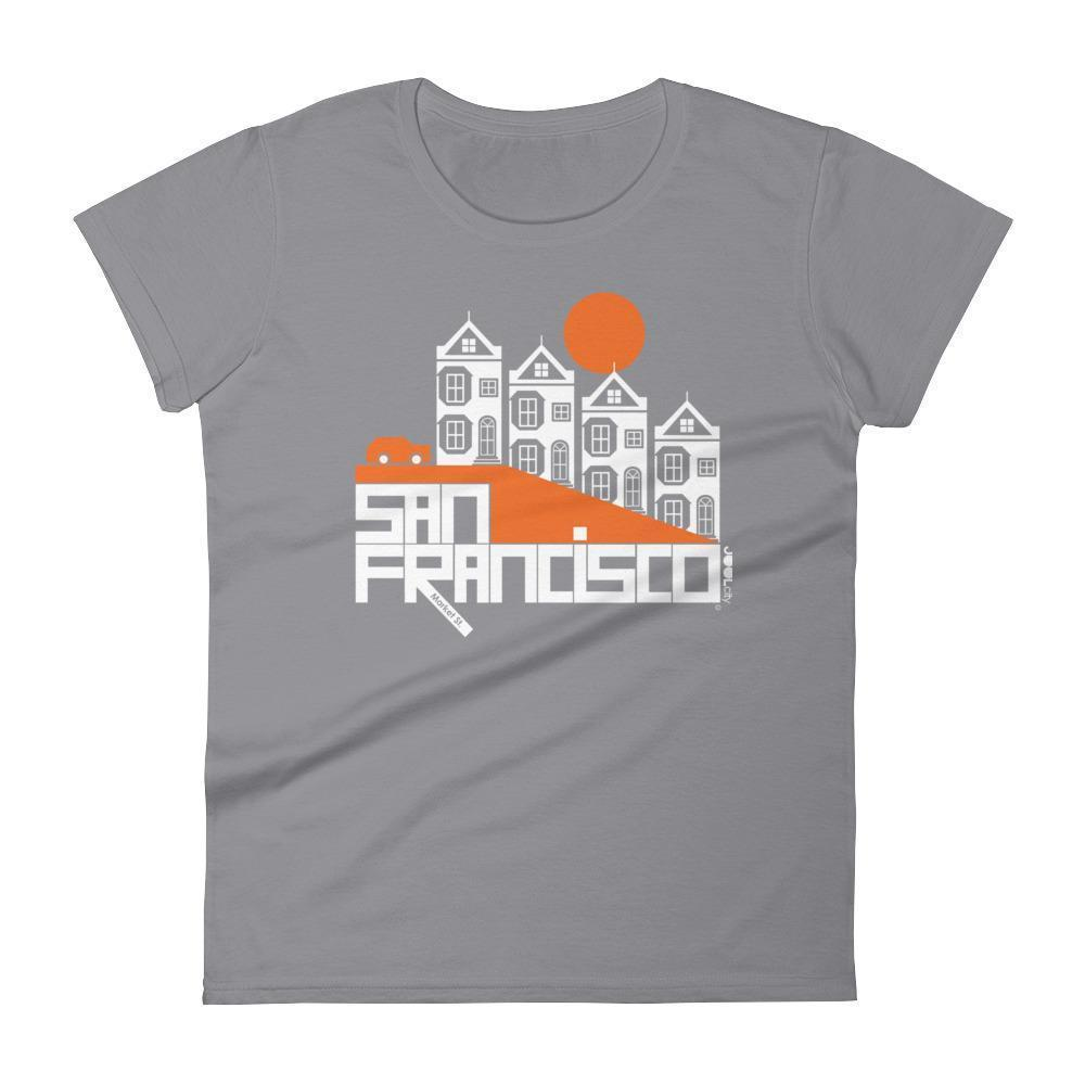 San Francisco  Painted Ladies  Women's  Short Sleeve T-Shirt T-Shirt Storm Grey / 2XL designed by JOOLcity