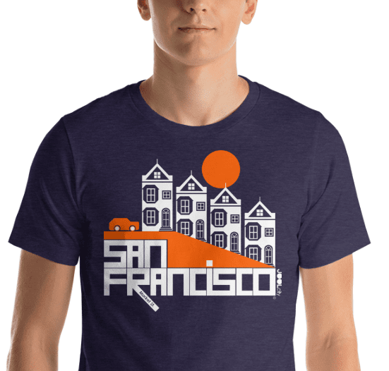 San Francisco  Painted Short-Sleeve Men's  T-Shirt T-Shirt  designed by JOOLcity