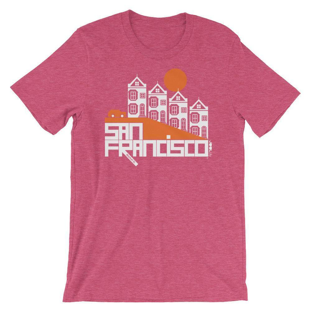 San Francisco  Painted Short-Sleeve Men's  T-Shirt T-Shirt Heather Raspberry / 2XL designed by JOOLcity