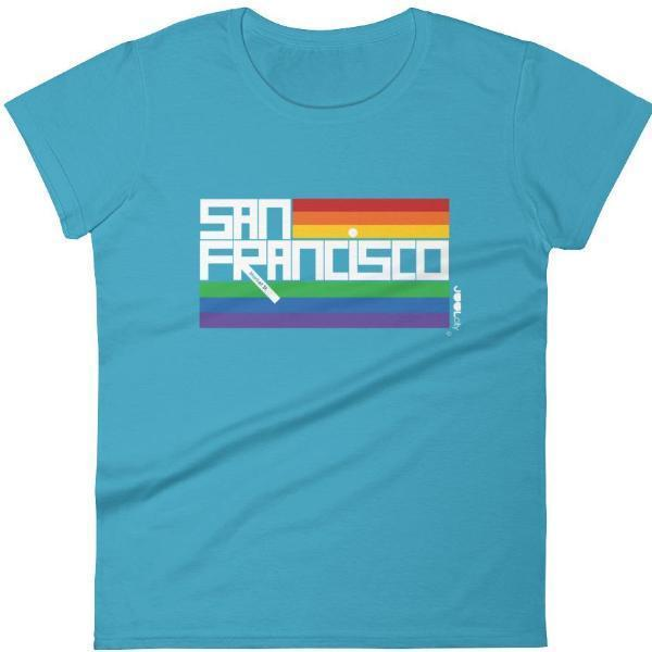 San Francisco  PRIDE  Women's  Short Sleeve T-Shirt T-Shirt Caribbean Blue / 2XL designed by JOOLcity