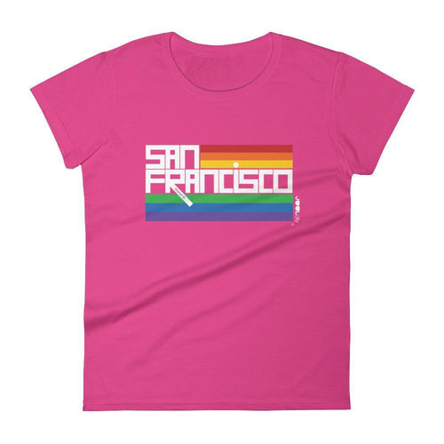 San Francisco  PRIDE  Women's  Short Sleeve T-Shirt T-Shirt Hot Pink / 2XL designed by JOOLcity