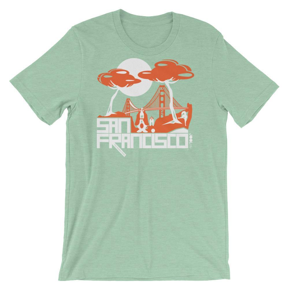 San Francisco Puppy Gate Short-Sleeve Men's T-Shirt T-Shirt Heather Prism Mint / 2XL designed by JOOLcity