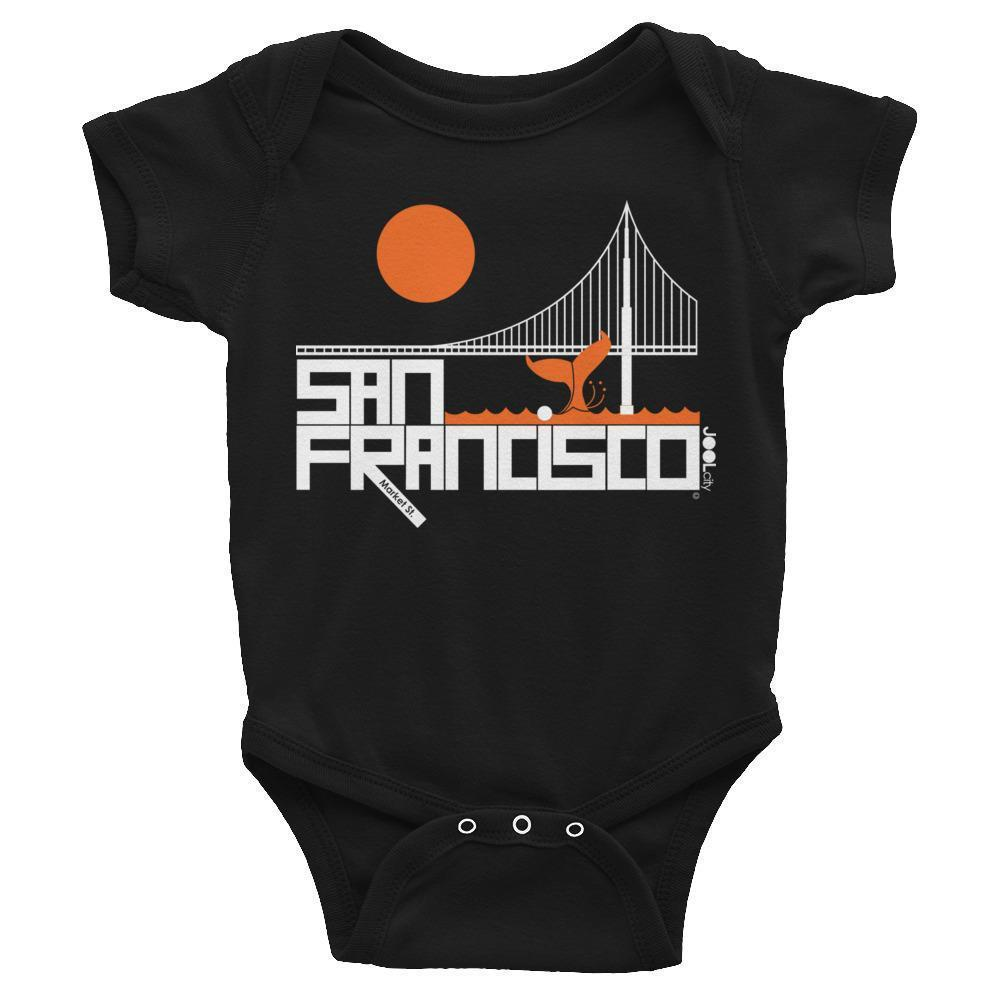 San Francisco  Whale Tail  Baby Onesie