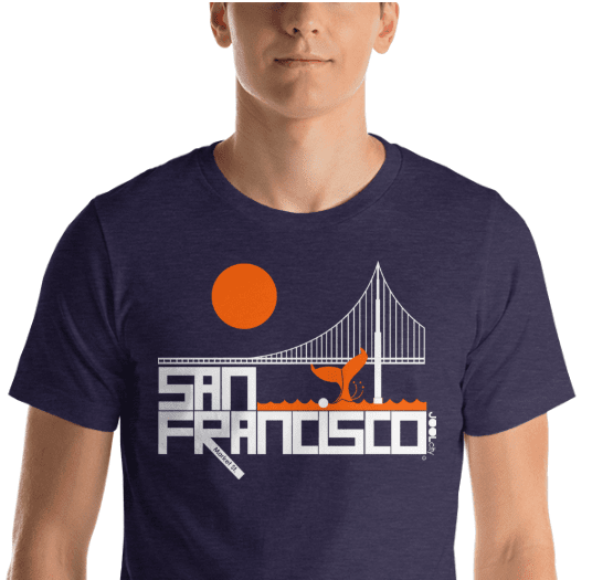 San Francisco  Whale Tail  Short-Sleeve Men's  T-Shirt T-Shirt  designed by JOOLcity