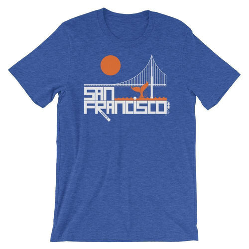 San Francisco  Whale Tail  Short-Sleeve Men's  T-Shirt T-Shirt Heather True Royal / 2XL designed by JOOLcity