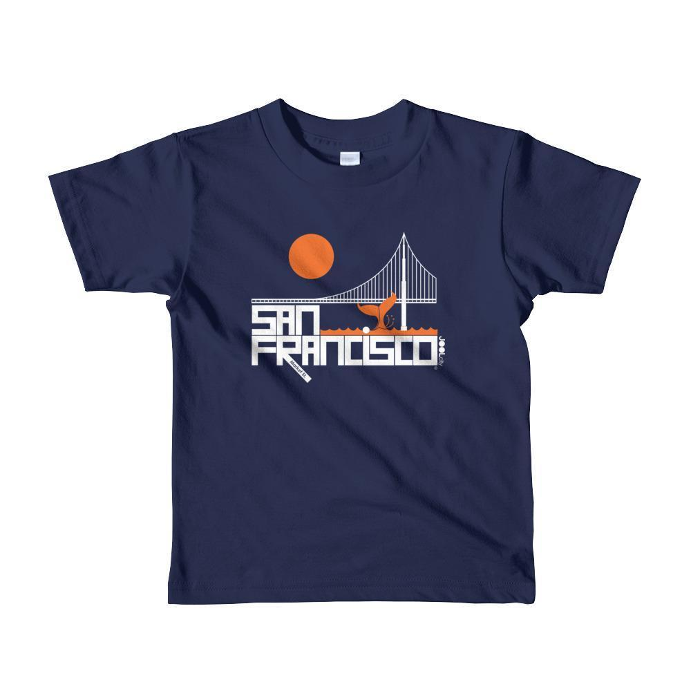 San Francisco Whale Tail Toddler Short-Sleeve T-Shirt T-Shirt Navy / 6yrs designed by JOOLcity