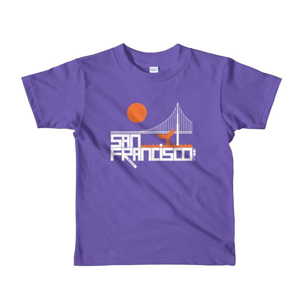 San Francisco Whale Tail Toddler Short-Sleeve T-Shirt T-Shirt Purple / 6yrs designed by JOOLcity