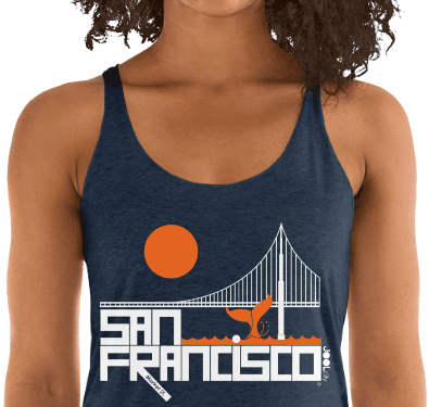 San Francisco Whale Tail Women's Tank Top