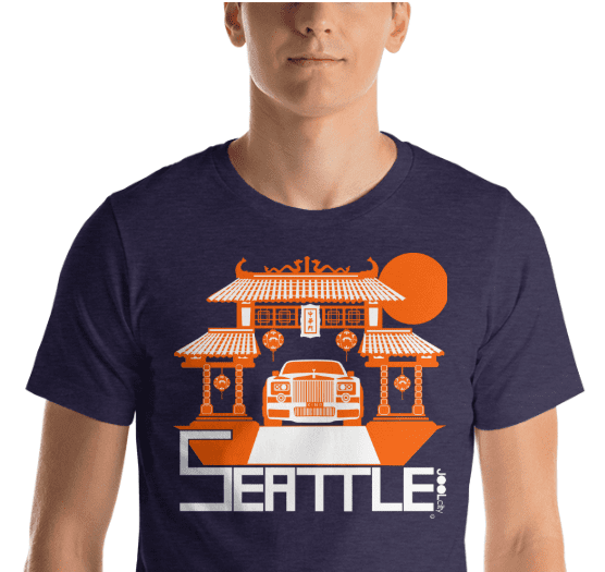 Seattle Chinatown Rolls Short-Sleeve Men's T-Shirt T-Shirt  designed by JOOLcity