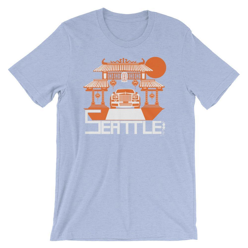 Seattle Chinatown Rolls Short-Sleeve Men's T-Shirt T-Shirt Heather Blue / 2XL designed by JOOLcity