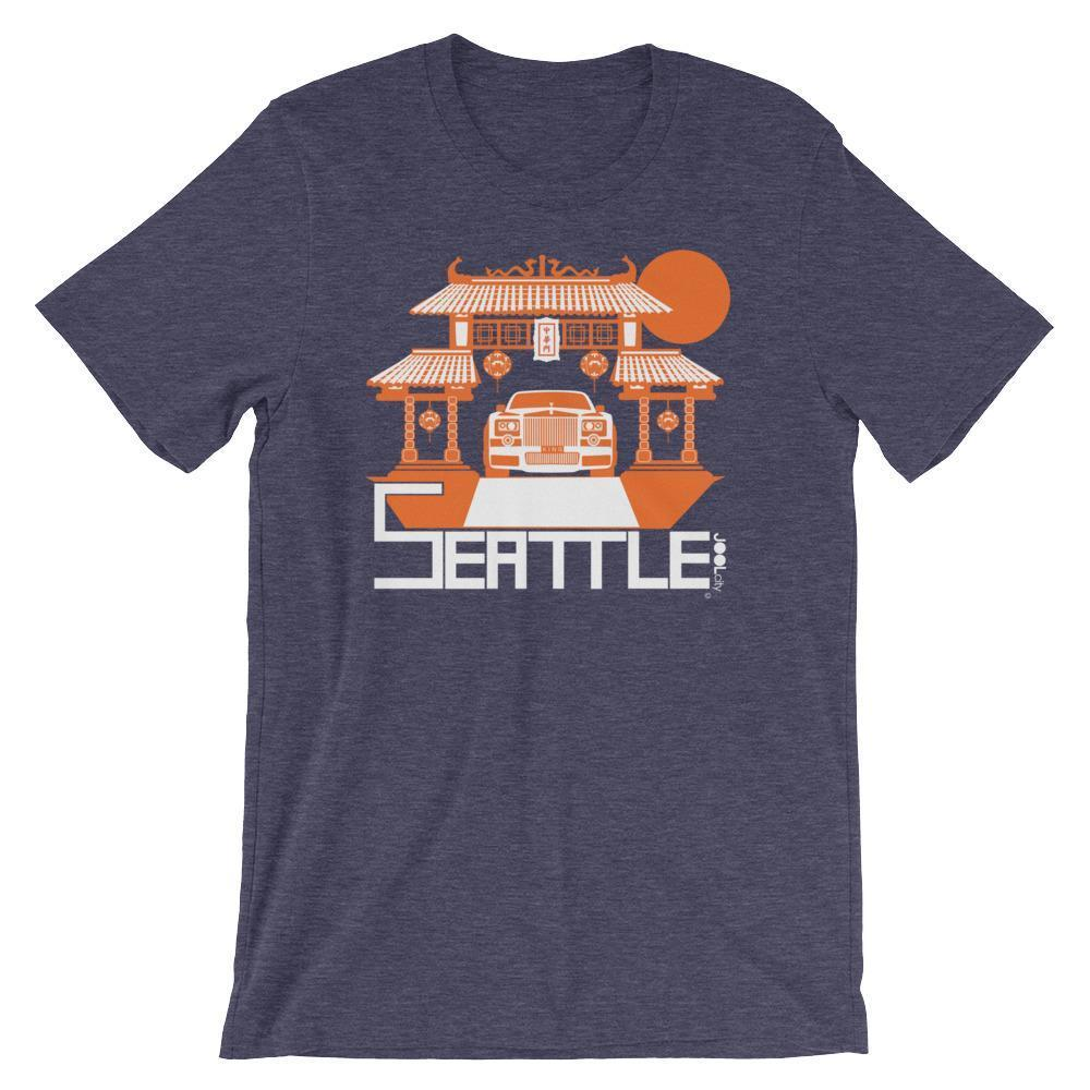 Seattle Chinatown Rolls Short-Sleeve Men's T-Shirt T-Shirt Heather Midnight Navy / 2XL designed by JOOLcity